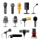 Microphone Audio Vector Dictaphone and Microphones - GraphicRiver Item for Sale