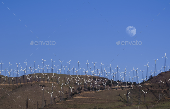 Wind Farms Power Generation - Stock Photo - Images