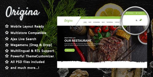 Origina - Organic Food and Restaurant PrestaShop 1.7 Theme