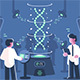 Genetics Doctors Researching DNA in Laboratory - GraphicRiver Item for Sale
