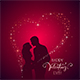 Valentines Day Background with Heart and Couple - GraphicRiver Item for Sale