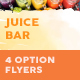 Juice Bar Menu Flyers 2 – 4 Options - GraphicRiver Item for Sale