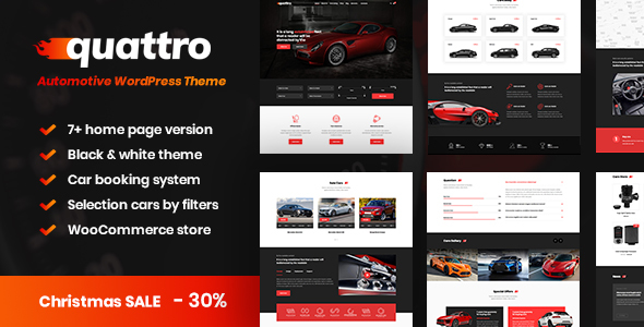 Quattro - Auto Booking & Automotive Theme - Business Corporate