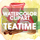 Watercolor Teatime Clipart Collection - GraphicRiver Item for Sale