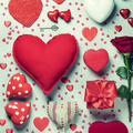 Valentine's day background, flat lay, top view - PhotoDune Item for Sale