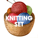 Watercolor Knitting and Crocheting Set - GraphicRiver Item for Sale