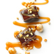 chocolate candies decorated with caramel sauce and nuts - PhotoDune Item for Sale