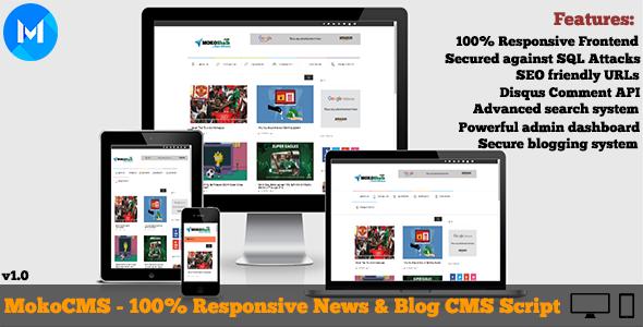 MokoCMS - Responsive News and Blog Portal CMS Script - CodeCanyon Item for Sale