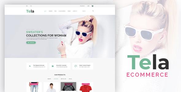 Tela - Fashion eCommerce PSD Template - Fashion Retail