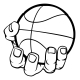 Hand Holding Basketball - GraphicRiver Item for Sale