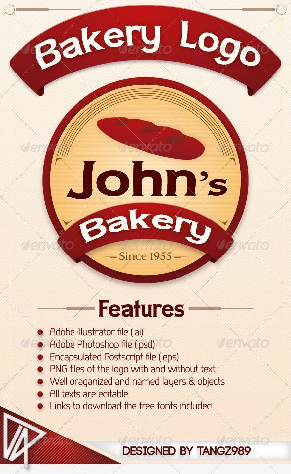 Bakery Logo - Food Logo Templates
