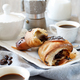 Breakfast with coffee and croissant - PhotoDune Item for Sale