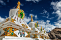 White chortens stupas in Ladakh, India - PhotoDune Item for Sale