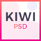 Kiwi - Creative One Page PSD Template