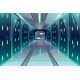 Vector Corridor in Spaceship Server Center - GraphicRiver Item for Sale