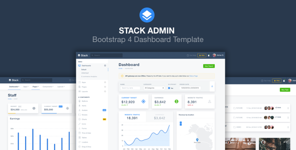 Stack Admin - Bootstrap 4 Dashboard Template