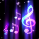 Music Notes Blue Background 2 - VideoHive Item for Sale