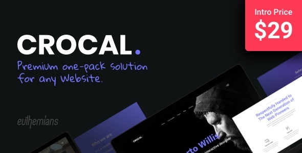 Crocal - Responsive Multi-Purpose WordPress Theme - Corporate WordPress