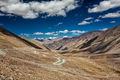 Karakoram Range and road in valley, Ladakh, India - PhotoDune Item for Sale