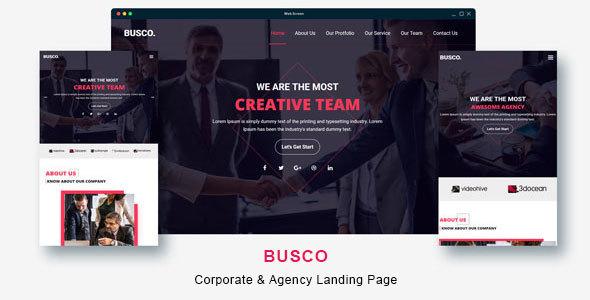 Busco - Corporate & Business Agency Template - Corporate Site Templates