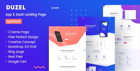 Duzel - Software, App & Saas Landing page Template - Software Technology