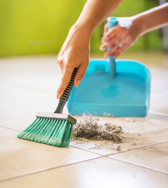 Woman House Cleaning - Stock Photo - Images