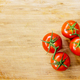 Truss Tomatoes On Wooden Background - PhotoDune Item for Sale
