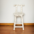 White Wooden Stool Against Wall - PhotoDune Item for Sale