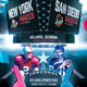 American Football Superball Flyer College Match Template - GraphicRiver Item for Sale