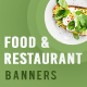 Food and Restaurant Banner Set - GraphicRiver Item for Sale