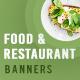 Food and Restaurant Banner Set - GraphicRiver Item for Sale