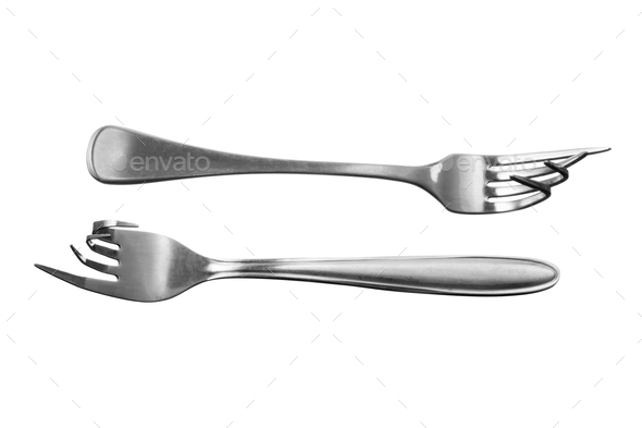 Bent Forks - Stock Photo - Images