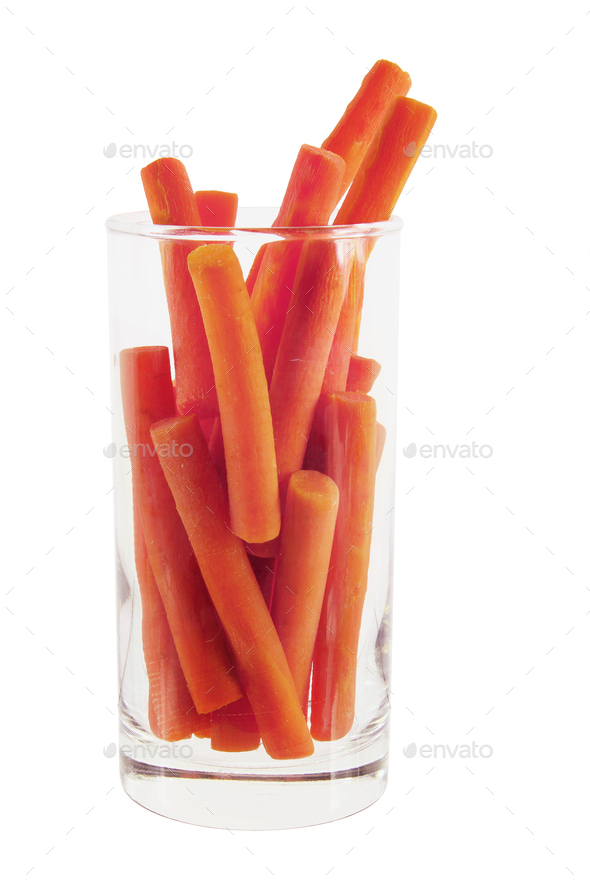 Carrot Sticks in Glass - Stock Photo - Images