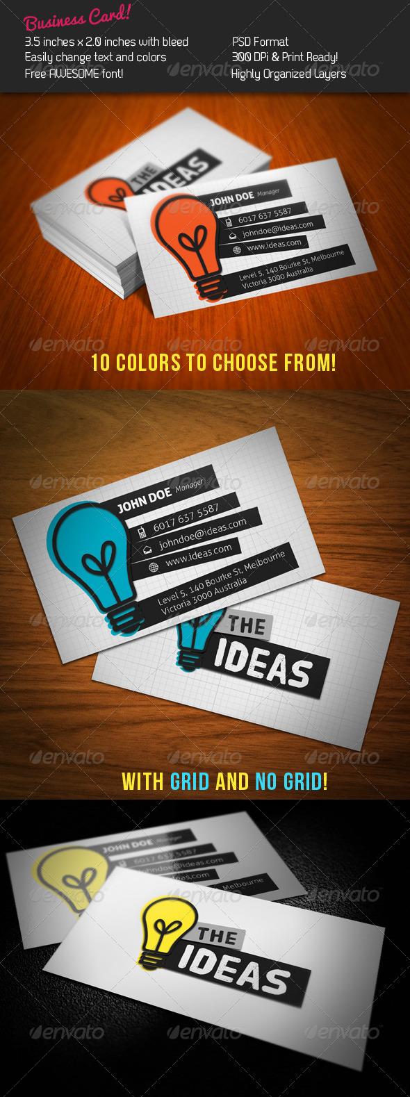 Ideas Business Card - Creative Business Cards