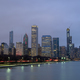 Evening scenery of Chicago downtown skyline Chicago, Illinois USA - PhotoDune Item for Sale