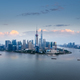 aerial view of shanghai skyline at dusk - PhotoDune Item for Sale