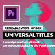 Universal Titles // MOGRT - VideoHive Item for Sale