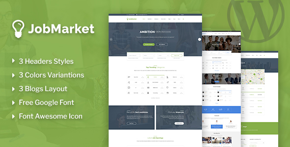 JobMarket - Job Multipurpose WordPress Theme - Corporate WordPress