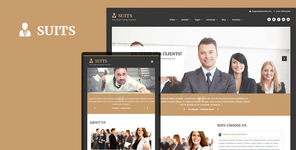 Suits - Responsive Attorneys and Law Firms Joomla Template