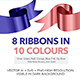 8 Ribbons in 10 Colours - GraphicRiver Item for Sale