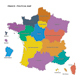France - Political Map with Flat Colors - GraphicRiver Item for Sale