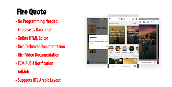 Fire Quote   Native Android Quote & Status App with Firebase Back-end