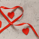 Gray Background with Red Hearts - PhotoDune Item for Sale