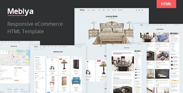 Meblya - Responsive eCommerce HTML Template - Shopping Retail
