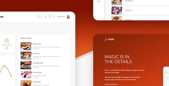 Piaf - Vuejs Admin Dashboard