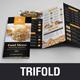 Food Restaurant Trifold Brochure v1 - GraphicRiver Item for Sale
