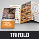 Food Restaurant Trifold Brochure v2 - GraphicRiver Item for Sale