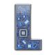 Letter L.  Alphabet in circuit board style. Digital hi-tech lett - PhotoDune Item for Sale