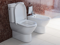 Toilet bowl and bidet in the modern bathroom. - PhotoDune Item for Sale