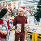 Young couple with boxes full of Christmas balls - PhotoDune Item for Sale